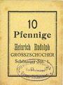 Banknoten Grosszschocher. Heinrich Rudolph. Kolonialwaren. Billet. 10 pfennig
