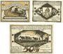Banknoten Hagenow. Stadt. Série de 3 billets. 10 pf, 25 pf, 50 pf (1922)