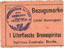 Banknoten Hassloch Gemeinde. Bon d'achat (Bezugsmarke) 1 litre d'alcool à brûler (1 Literflasche Brennspiritus