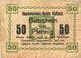 Banknoten Hassloch. Handelsshutz - Verein. Billet. 50 pf, texte sans erreur : jederzeit eingelöst
