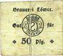 Banknoten Hassloch. Löwer Joh.. Brauerei und Weinkellerei. Billet. 50pf, cachet et signature manuscrite au do