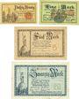 Banknoten Allemagne, Lippe, Fürstlich Lippische Regierung, Detmold, billets, 50 pf, 1, 5, 20 mk 13.11.1918