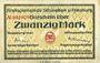 Banknoten Allemagne, Schwaben und Neuburg, Kreisgemeinde, billet, 20 mark 18.11.1918
