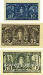 Banknoten Halberstadt. Stadt. Billets. 10 pf, 25 pf, 50 pf 27.4.1921