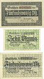 Banknoten Halberstadt. Stadt. Billets. 25 pf 1.10.1918, 10 pf, 25 pf 10.2.1920