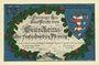 Banknoten Kahla. Leuchtenburg-Wirtschaft. Billet. 75 pf 15.6.1921, 2e série : Châteaux de Thuringe