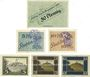 Banknoten Kahla. Stadt. Billets. 50 pf 1917, 5, 10 pf 1920, 10, 50 pf 1920