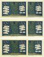 Banknoten Kahla. Stadt. Série de 6 billets. 75 pf (6ex) 1.12.1921, série politique