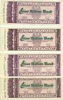 Banknoten Kaiserslautern. Stadt. Billets. 1 million mark (4ex) 15.9.1923, série (Teihe) A, D, F, H