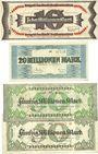 Banknoten Kaiserslautern. Stadt. Billets. 10 millions, 20 millions, 50 millions mark (2ex) 10.9.1923