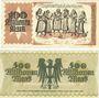 Banknoten Kaiserslautern. Stadt. Billets. 100 millions mark, 500 millions mark 20.9.1923