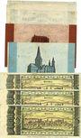 Banknoten Kaiserslautern. Stadt. Billets. 100000, 200000, 500000, 1, 2, 5 (3 ex) millions mark