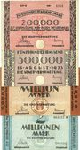 Banknoten Kaiserslautern. Stadt. Billets. 200000, 500000, 1, 2 millions mark 15.8.1923