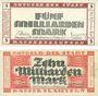 Banknoten Kaiserslautern. Stadt. Billets. 5 milliards, 10 milliards mark 10.10.1923