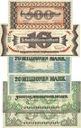 Banknoten Kaiserslautern. Stadt. Billets. 500 000, 10, 20 (2ex), 50 (2ex) millions mark 10.9.1923