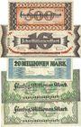 Banknoten Kaiserslautern. Stadt. Billets. 500 000, 10, 20, 50 (2ex) millions mark 10.9.1923