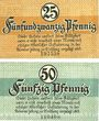 Banknoten Kamen. Stadt. Billets. 25 pf, 50 pf 1.4.1920
