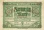 Banknoten Kamenz. Amtshauptmannschaft. Billet. 20 mark 15.11.1918. Annulation par numérotation barrée en rouge