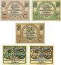 Banknoten Kamenz. Bezirksverband der Amtshauptmannchaft. Billets. 10, 50 pf 1917, 10 pf nd, 10, 50 pf 1.1.1921