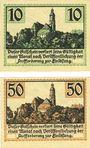 Banknoten Kamenz. Bezirksverband der Amtshauptmannchaft. Billets. 10 pf, 50 pf 1.1.1921