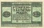 Banknoten Karlsruhe. Nähmaschinenfabrik Karlsruhevorm Haid & Neu A. G. Billet. 50000 mk 1.8.1923, série B