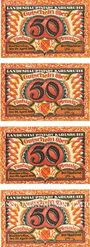 Banknoten Karlsruhe. Stadt. Billets. 50 pf (4ex) 22.4.1920