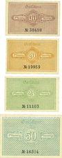 Banknoten Katzhütte. Gemeinde. Série de 4 billets. 10 pf, 20 pf, 25 pf, 50 pf 15.12.1920
