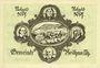 Banknoten Keilhau. Gemeinde. Billet. 50 pf 1.6.1921