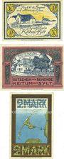 Banknoten Keitum / Stylt. Gemeinde. Billets. 50 pf, 1 mark n.d. - 31.10.1921, 2 mark n.d. - 1.10.1921