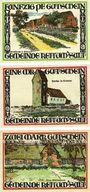 Banknoten Keitum / Stylt. Gemeinde. Série de 3 billets. 50 pf, 1 mark, 2 mark 1.9.1921