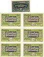 Banknoten Kelbra. Stadt. Billets. 25 pf 1.7.1920, 50 pf (6ex) 19.6.1921