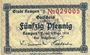 Banknoten Kempen (Kepno, Pologne). Stadt. Billet. 50 pf 1.9.1918