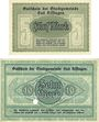 Banknoten Kissingen, Bad. Stadt. Billets. 5, 10 mark 20.10.1918. Edition originale