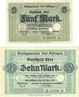 Banknoten Kissingen, Bad. Stadt. Billets. 5, 10 mark 20.10.1918. Réimpression