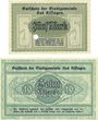 Banknoten Kissingen, Bad. Stadt. Billets. 5, 10 mark 20.10.1918. Réimpression