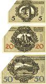 Banknoten Kitzingen. Distriktsgemeinde. Dettelbach, Marktbreit. Billets. 5, 20, 50 mark 9.11.1918