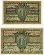 Banknoten Kitzingen. Stadt. Billets. 25 pf, 50 pf 1.2.1921