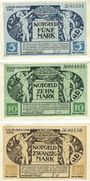Banknoten Kitzingen. Stadt. Billets. 5 mark, 10 mark 8.11.1918