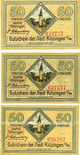 Banknoten Kitzingen. Stadt. Billets. 50 pf 1920 (3ex)