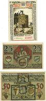 Banknoten Kitzingen. Stadt. Billets. 50 pf 1921, 25 pf, 50 pf 1.2.1921