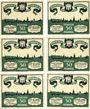 Banknoten Kitzingen. Stadt. Série de 6 billets. 50 pf 1.3.1921