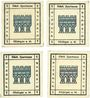 Banknoten Kitzingen. Städtische Sparkasse. 1 pf 1920, type avec filigrane, 4 ex avec légendes différentes