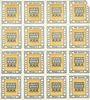 Banknoten Kitzingen. Städtische Sparkasse. Bloc de 2 séries de 8 billets. 1 pf 1920. Type sans filigrane