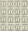 Banknoten Kitzingen, Städtische Sparkasse, bloc de 2 séries de 8 billets, 2 pf 1920, type sans filigrane