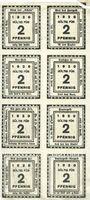 Banknoten Kitzingen, Städtische Sparkasse, série cmplète de 8 billets, 2 pf 1920, type sans filigrane