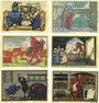 Banknoten Kneitlingen. Gemeinde. Série de 6 billets. 50 pf (2ex), 75 pf (2ex), 1 mk (2ex) 1.7.1921 (1922)