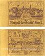 Banknoten Köben (Chobienia, Pologne). Stadt. Billet. 50 pf 24.12.1920. Impressions unifaces. Inédit !