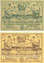 Banknoten Köben (Chobienia, Pologne). Stadt. Billets. 10 pf, 50 pf 24.12.1920