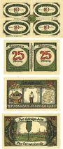 Banknoten Königsaue. Gemeinde. Billets. 40 (4x10), 50 (2x25), 50, 75 pfennig