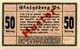 Banknoten Königsberg i. Pr. (Kaliningrad, Russie). Stadt. Billet. 50 pf 19.4.1917, Essai avec Muster